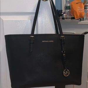 Michael Kors Jet Set Travel- Black Tote